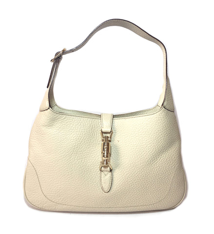 Gucci Cream Leather 'JACKIE' Shoulder Bag | Pre Loved |