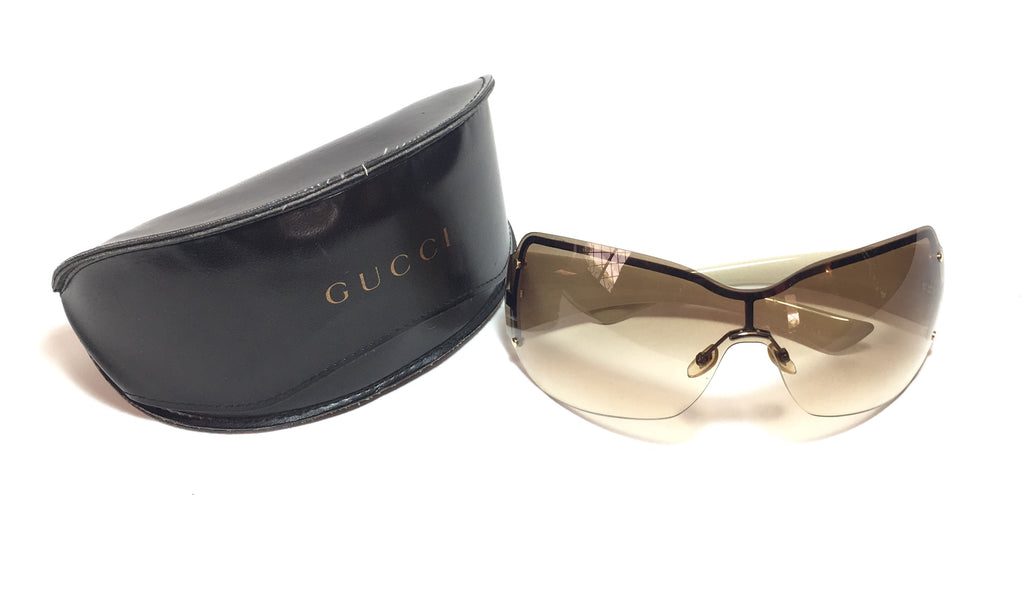 Gucci 1825/S Unisex Wraparound Sunglasses | Pre Loved |
