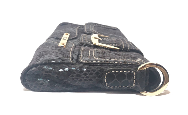GUESS Black Snakeskin Clutch | Gently Used |