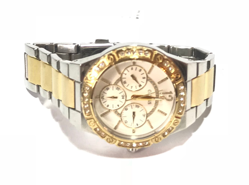 GUESS Gold & Silver Rhinestone Watch | Gently Used |
