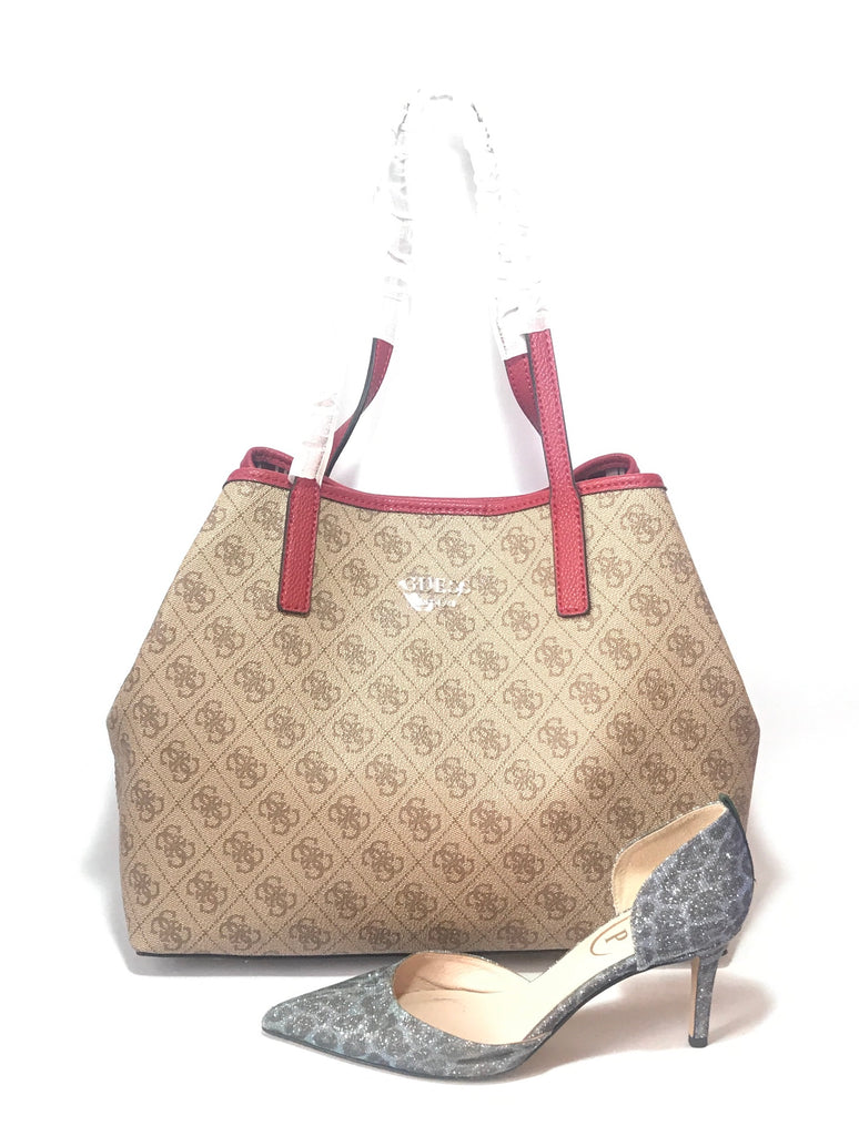 Guess Monogram Canvas 'Group Vikky' Shoulder Bag | Brand New |