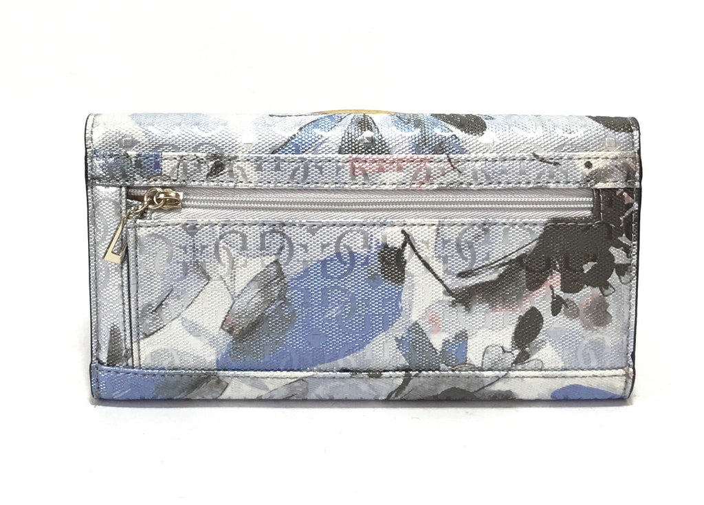 Guess Metallic Monogram Printed Wallet  | Brand New |