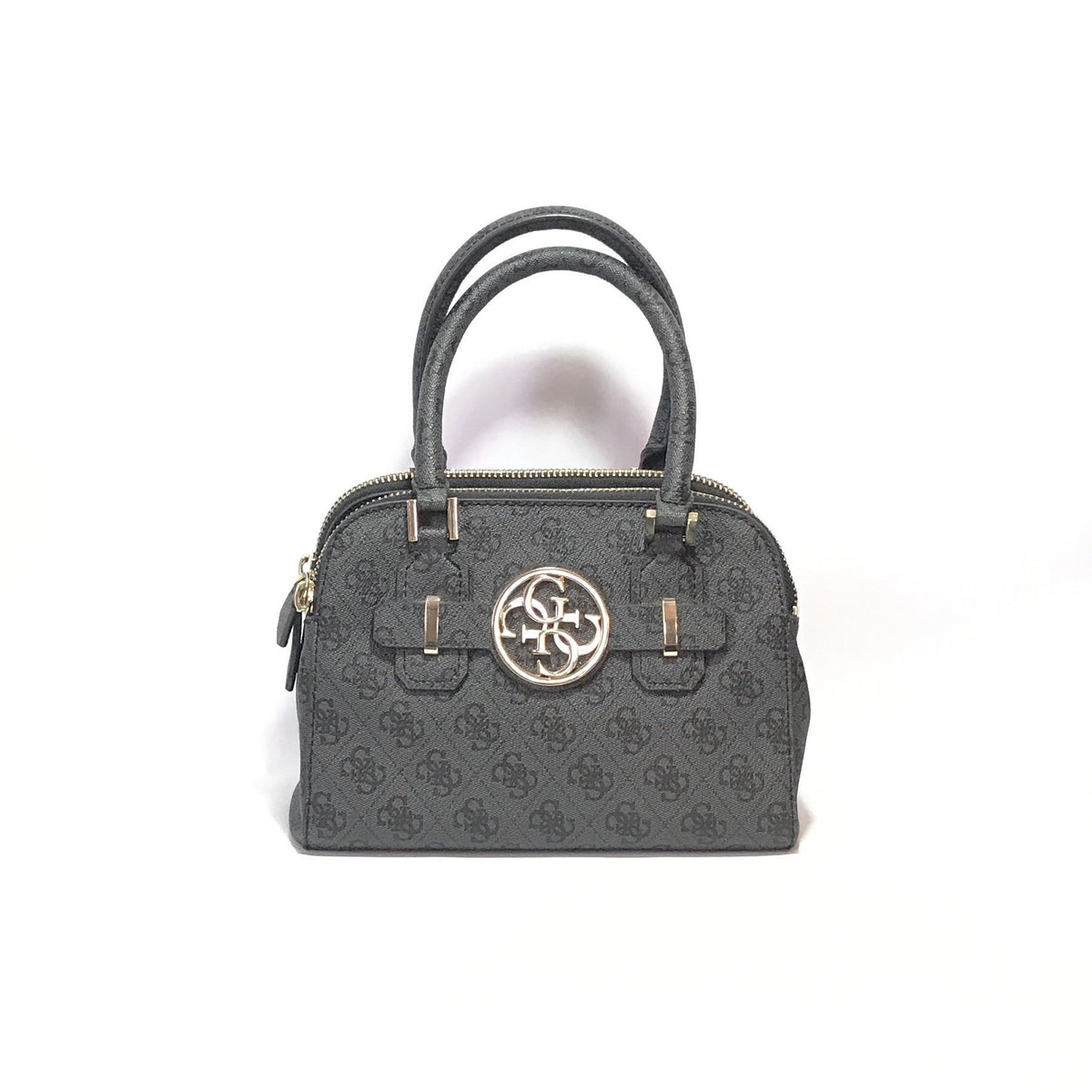 Guess Navy Monogram Coated Canvas Tote Like New Secret Stash