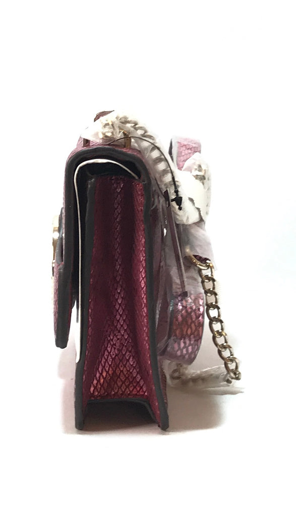 GUESS Pink Snakeskin with Rhinestone Shoulder Bag | Brand New |