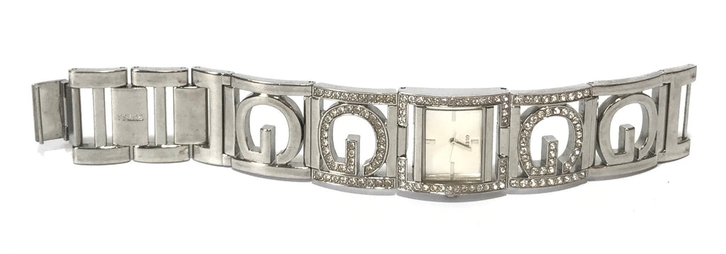 GUESS Silver Rhinestone Stainless Steel Watch | Pre Loved |