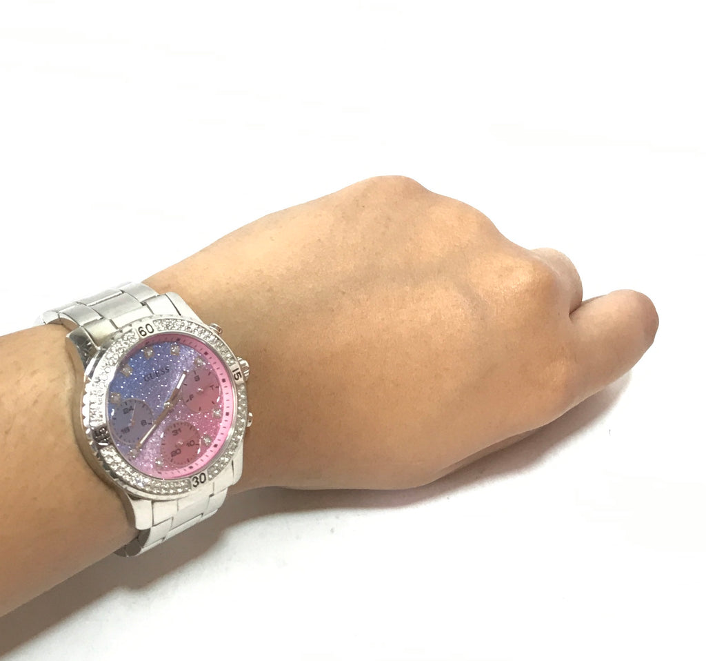 GUESS Confetti Crystal Glitter Dial Watch | Gently Used |