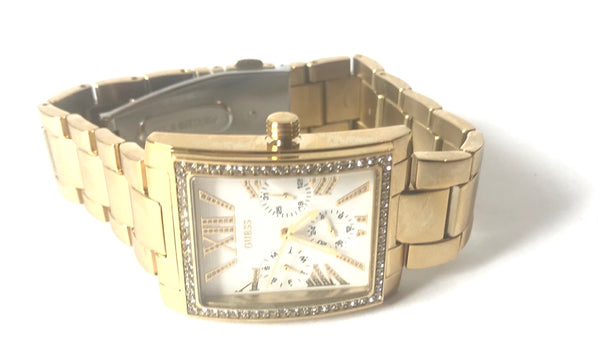 Guess W0446L2 Gold Stainless Steel Crystals Watch | Brand New |