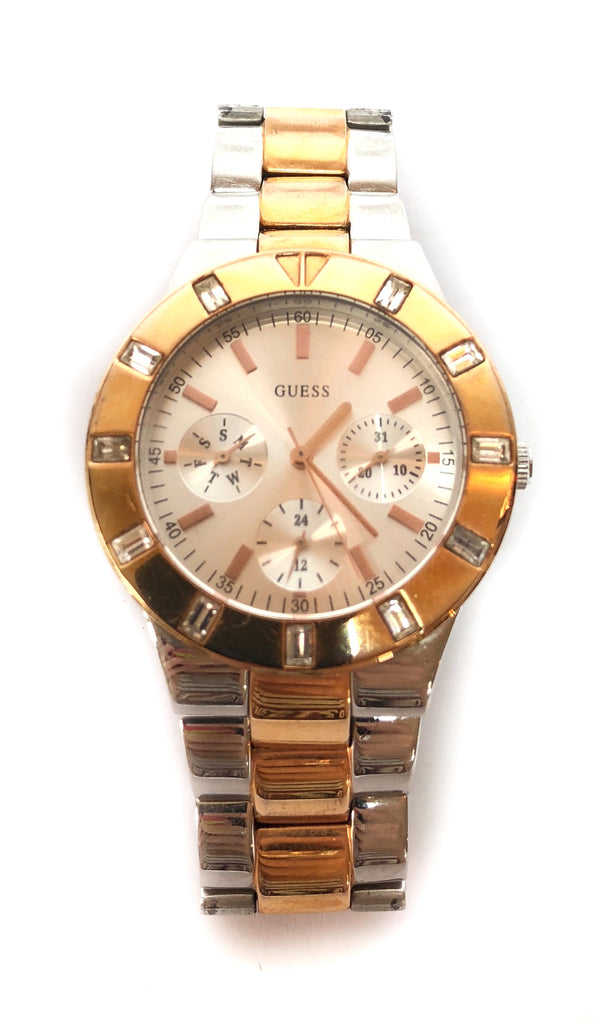 GUESS Silver & Gold Stainless Steel Watch | Pre Loved |