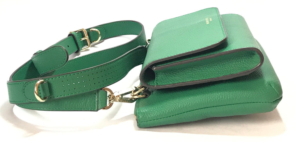 Henri Bendel Green Leather Cross Body Bag | Gently Used |