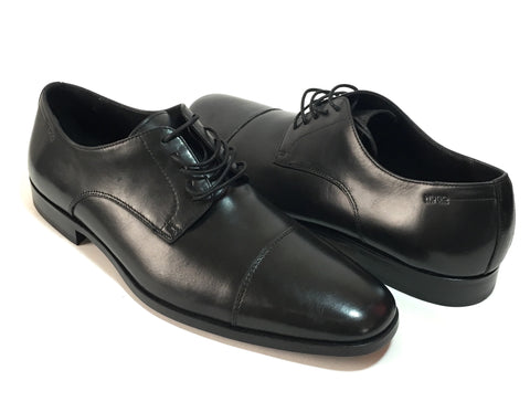 HUGO BOSS Men's Black Leather C-Mation Oxford Dress Shoes | Like New |