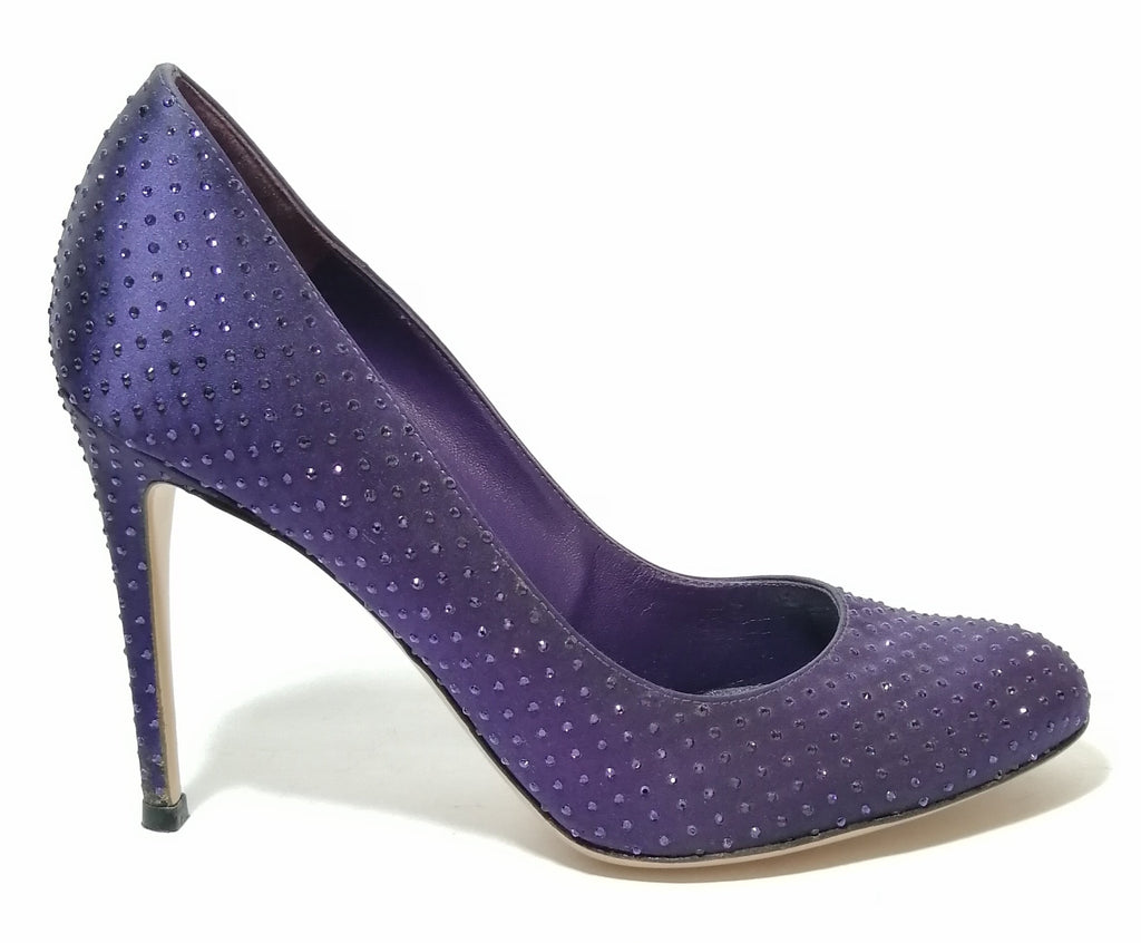 Gianvitto Rossi Purple Sequins Pumps