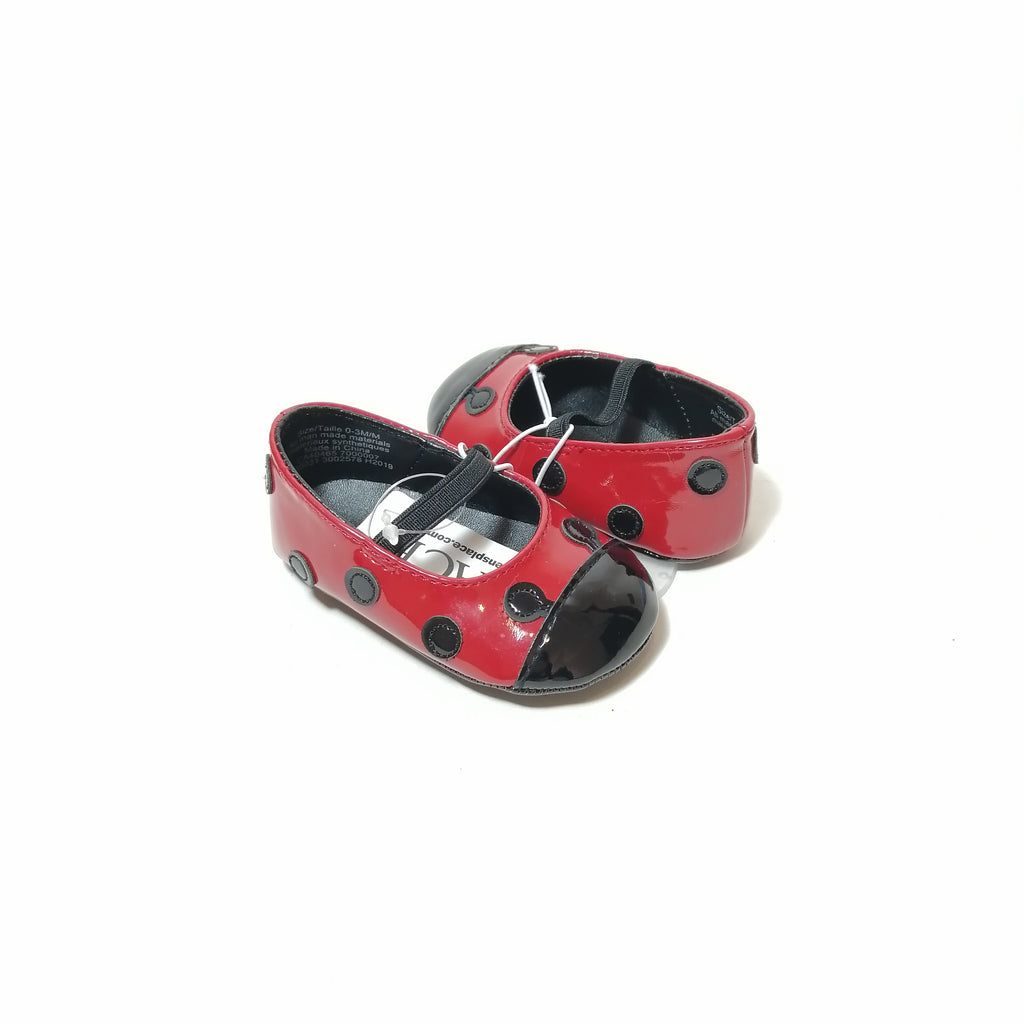 The Children's Place Red Lady Bug Shoes (0-3 mo)