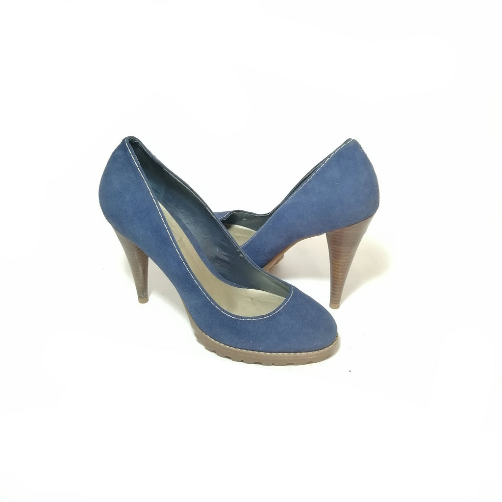 Dune Blue Suede Pumps