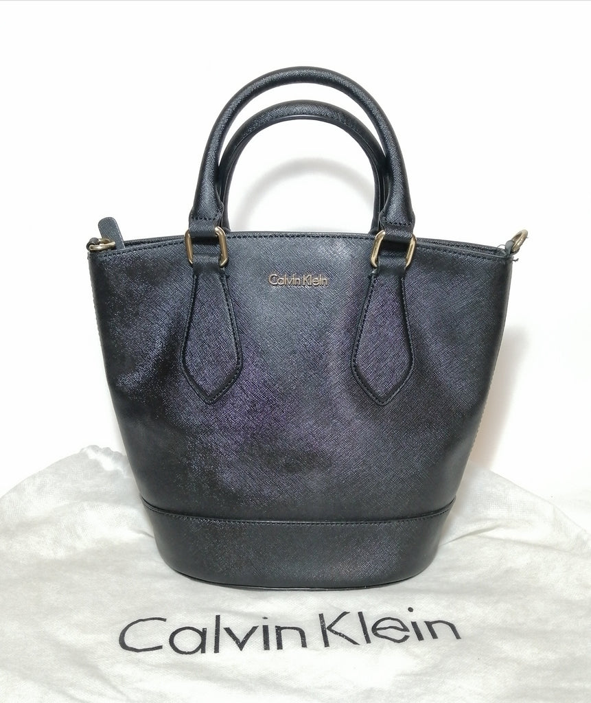 Calvin Klein Black Monogram Satchel