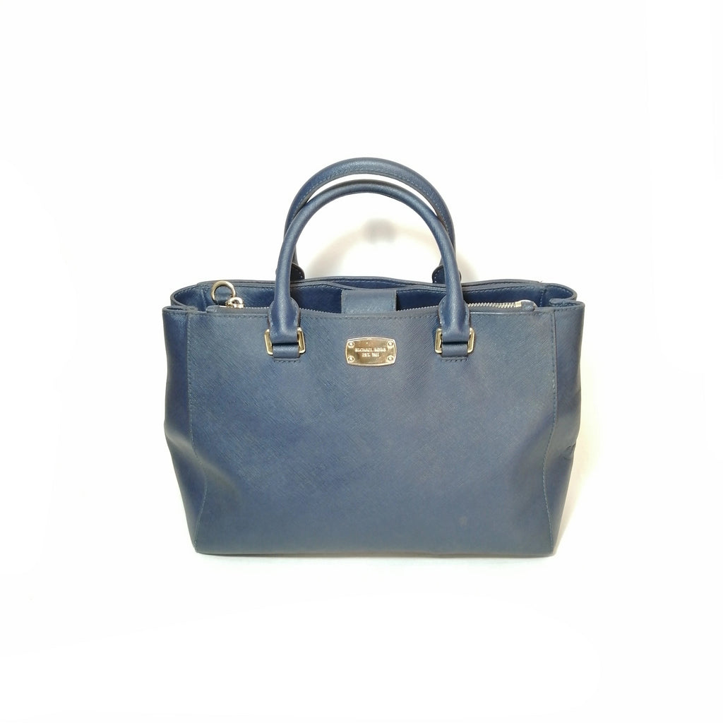 Michael Kors Navy Leather Satchel