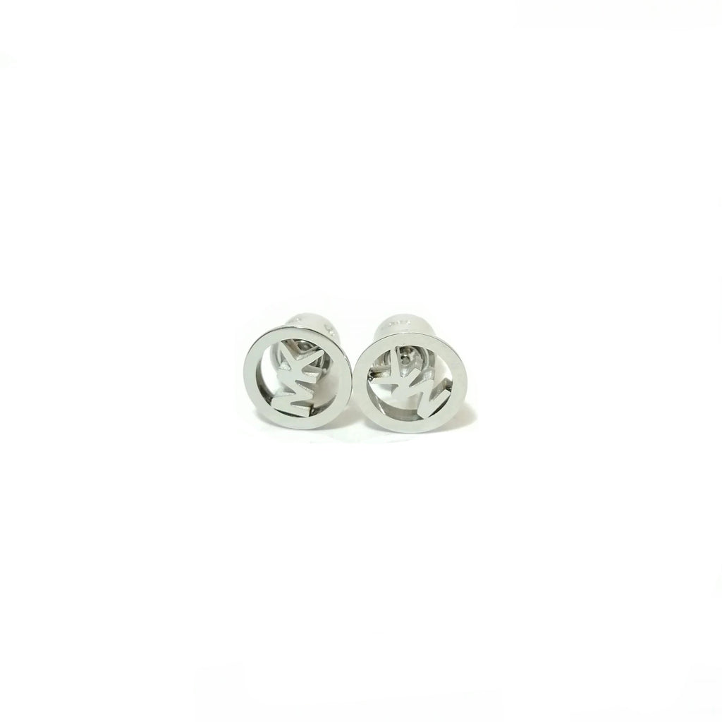 Michael Kors Silver Logo Stud Earrings