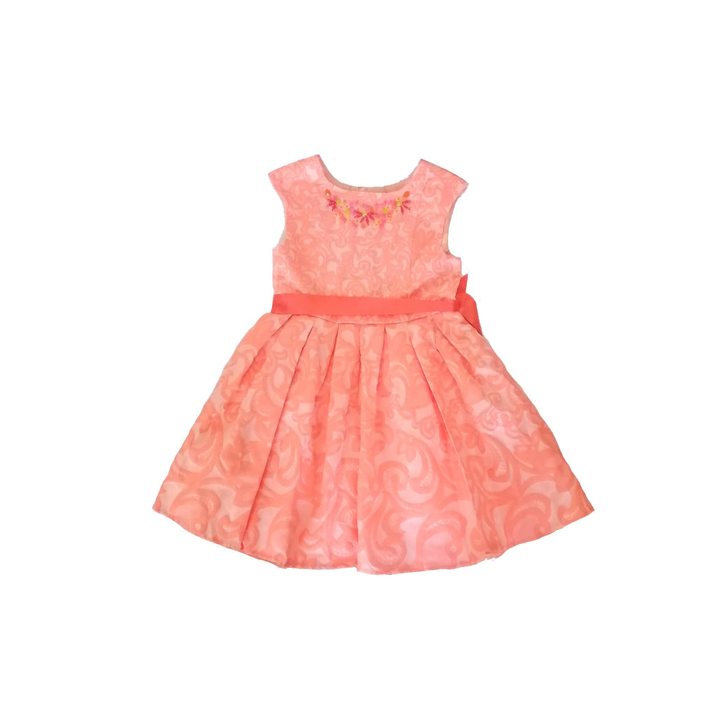 Monsoon Orange Floral Dress (6 years)