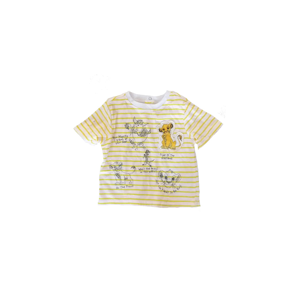 Disney Lion King Striped T Shirt (6 - 9 months)