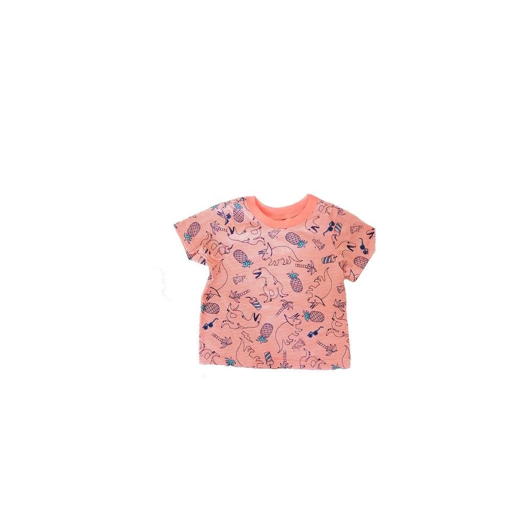 Children's Place Orange Dino T Shirt (12 - 18 months)
