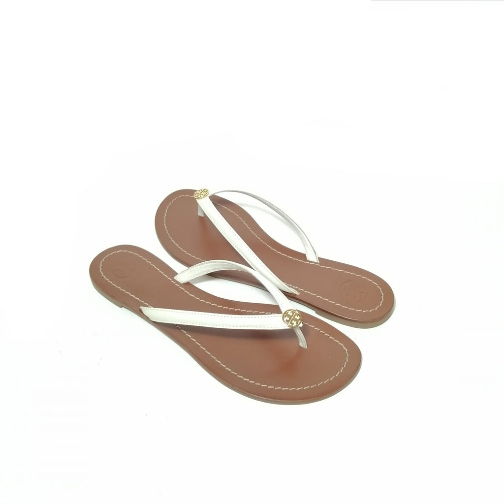 Tory Burch White Thong Sandals