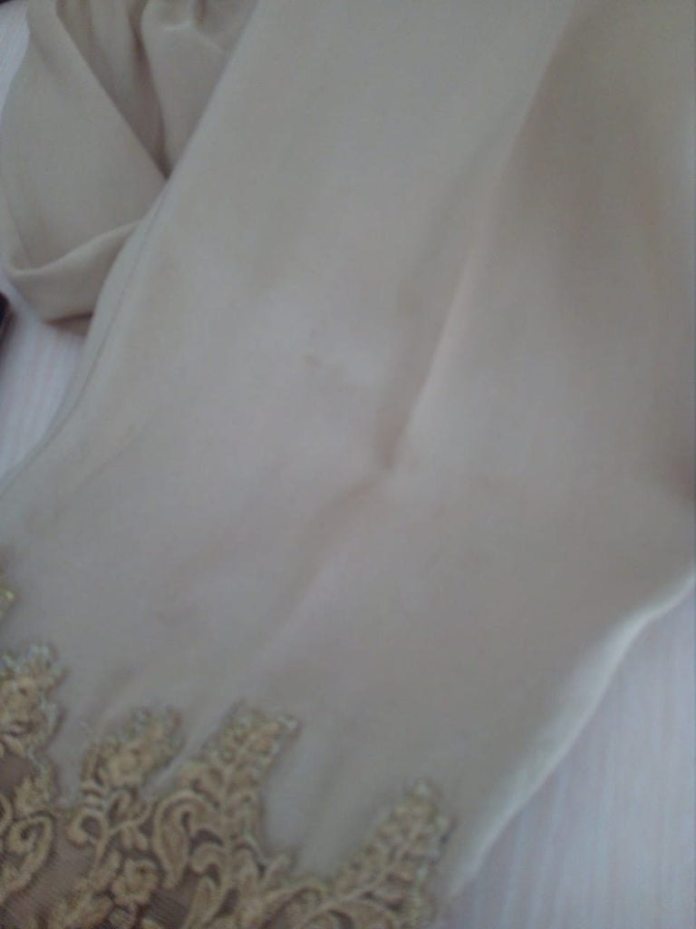 Mina Hasan Beige Embroidered Outfit | Gently Used |