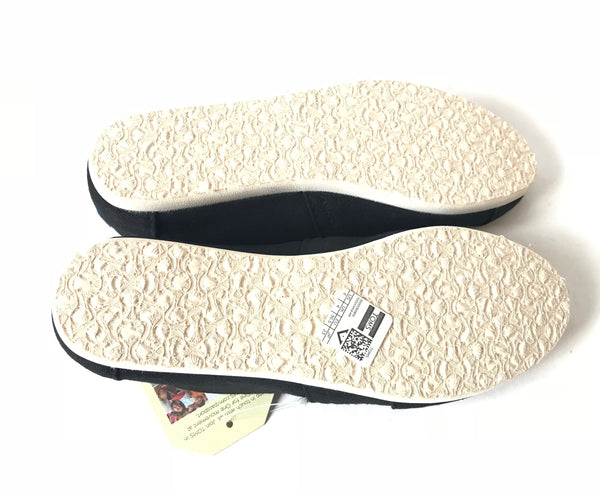 TOMS Black Canvas Women's Shoes | Brand New |