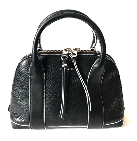 Coach Small Black Pebbled Leather Tote | Gently Used |