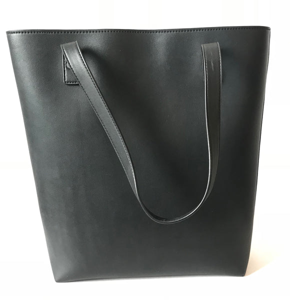 Charles & Keith Black Leather Tote Bag | Brand New |