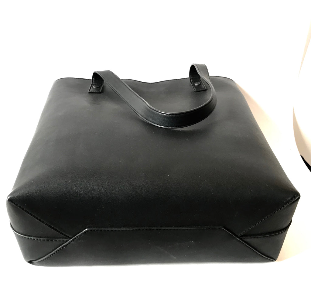Charles & Keith Black Leather Tote Bag | Brand New | - Secret Stash