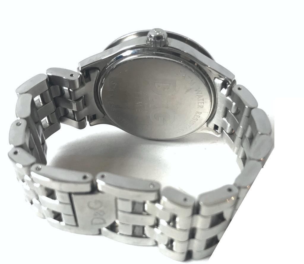 D&G TIME Silver Metallic Bracelet Watch | Brand New | - Secret Stash