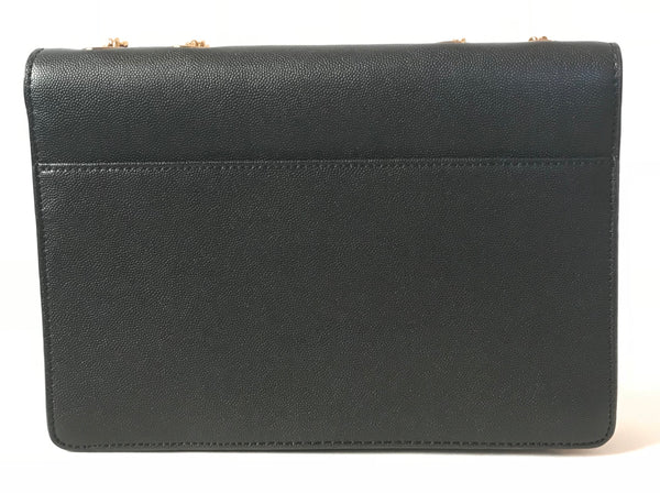 Charles & Keith Black Leather with Gold Chain Bag | Like New |
