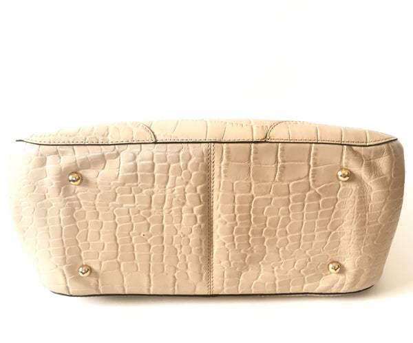 DKNY Beige Pebbled Leather Tote | Gently Used | - Secret Stash