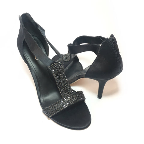 Aldo Black Diamonte Encrusted Heels | Brand New |