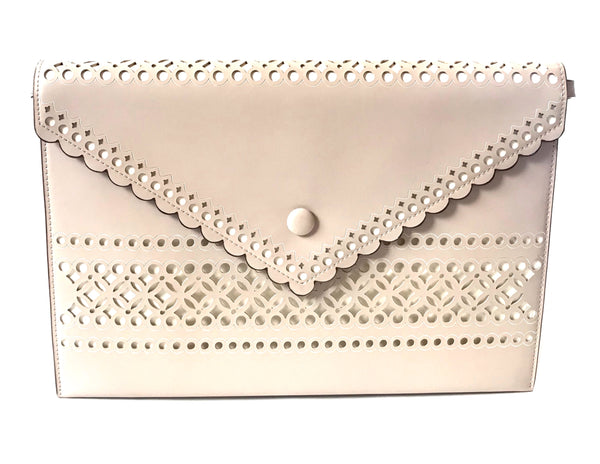 Charles & Keith Blush Pink Envelope Clutch | Brand New |