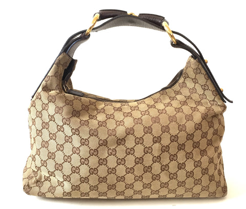 Gucci Monogram Canvas Signature GG Shoulder Bag | Gently Used |