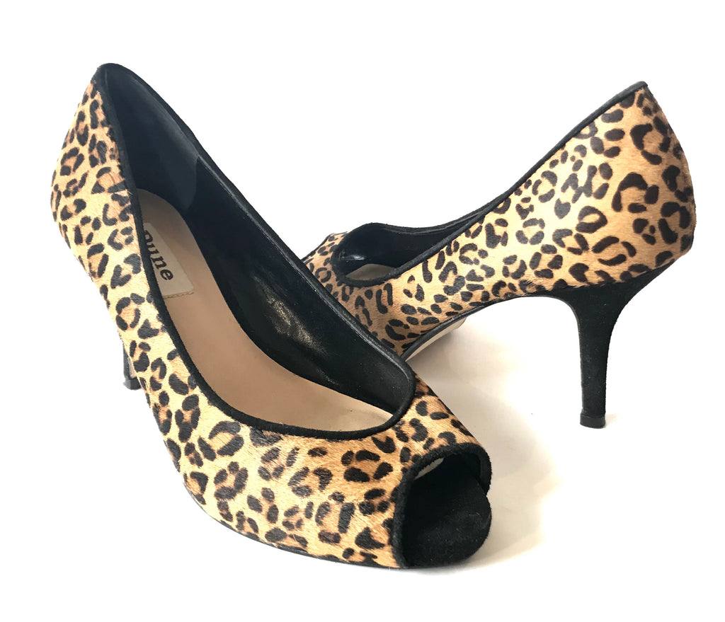 DUNE Cheetah Print Peep-toe Heels | Gently Used |