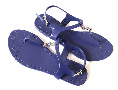 Coach Purple Plastic Thong Sandals | Gently Used |