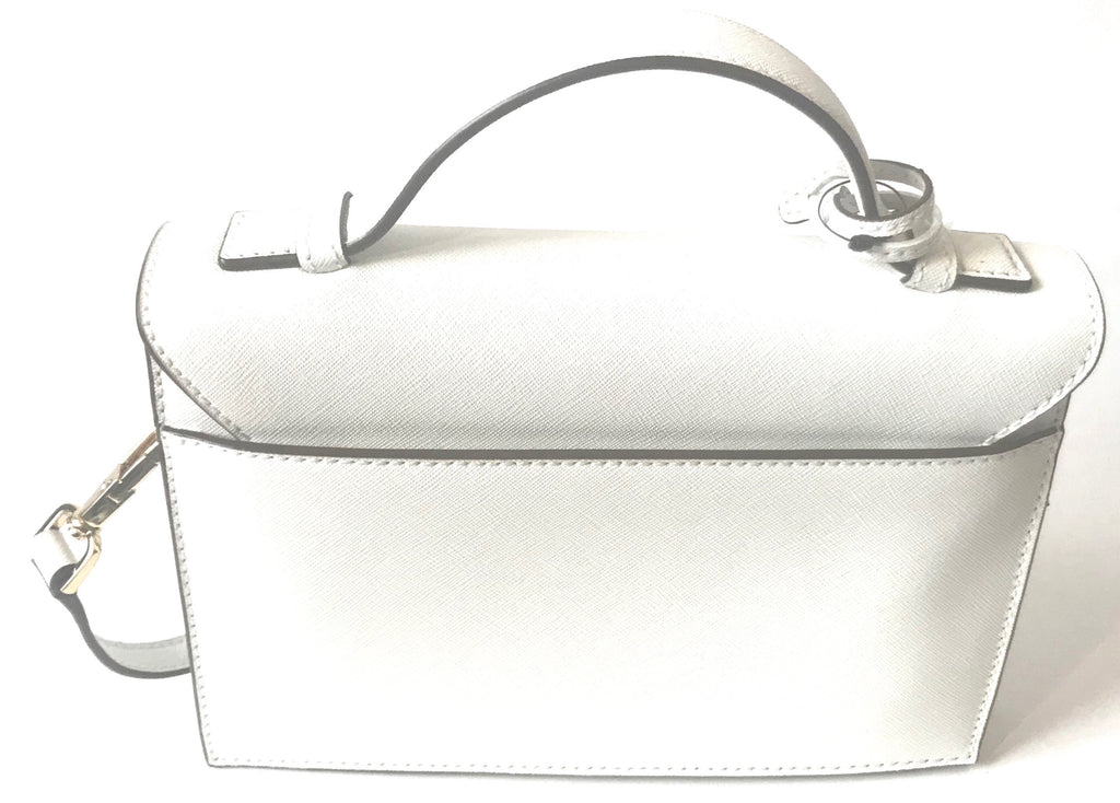 DKNY White Leather Shoulder Bag | Brand New |