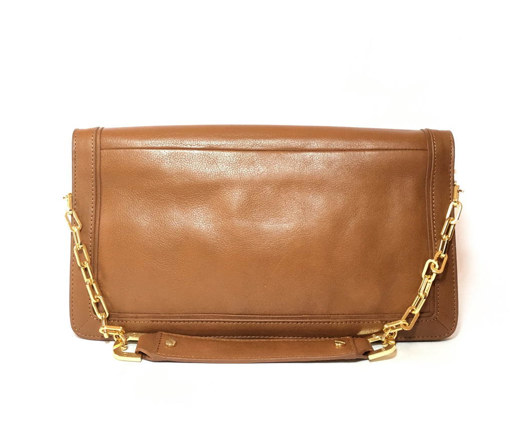 Tory Burch 'Suki Reva' Tan Leather Clutch | Gently Used |