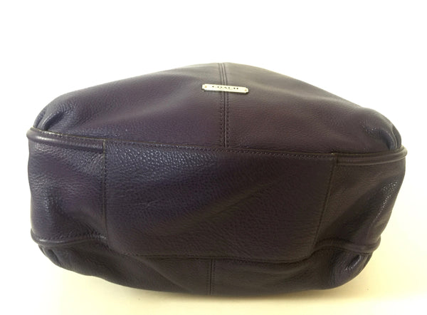 Coach Purple Pebbled Leather Shoulder Bag | Gently Used | - Secret Stash