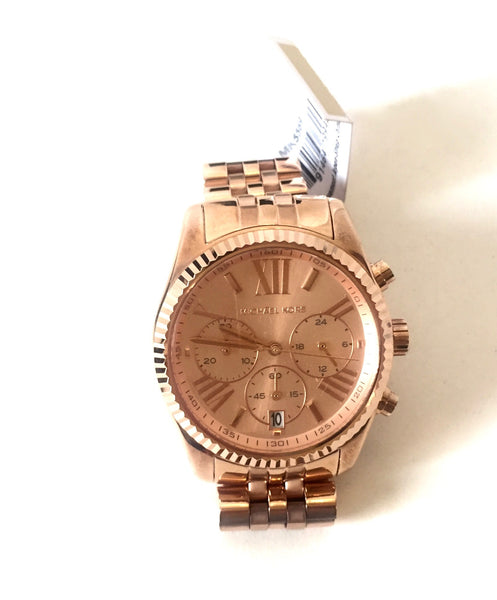 Michael Kors 'Bradshaw' Rose Gold Stainless Steel Watch | Brand New | - Secret Stash