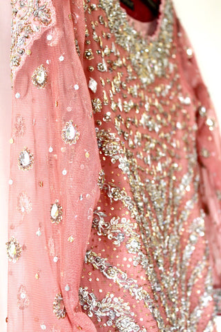 Zainab Chottani Pink Bridal Outfit | Gently Used | - Secret Stash