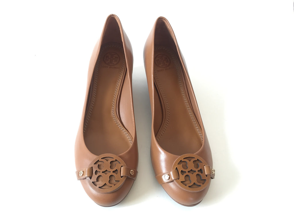 Tory Burch Tan Leather Wedges | Brand New | - Secret Stash