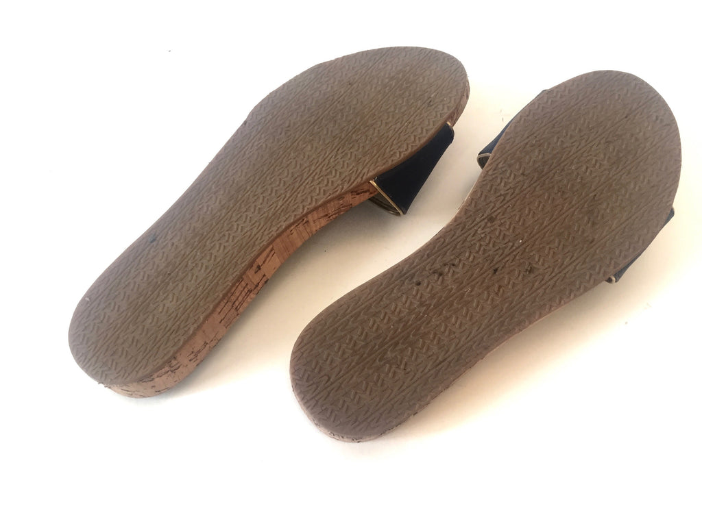 Michael Kors Denim Cork Flats | Pre Loved | - Secret Stash