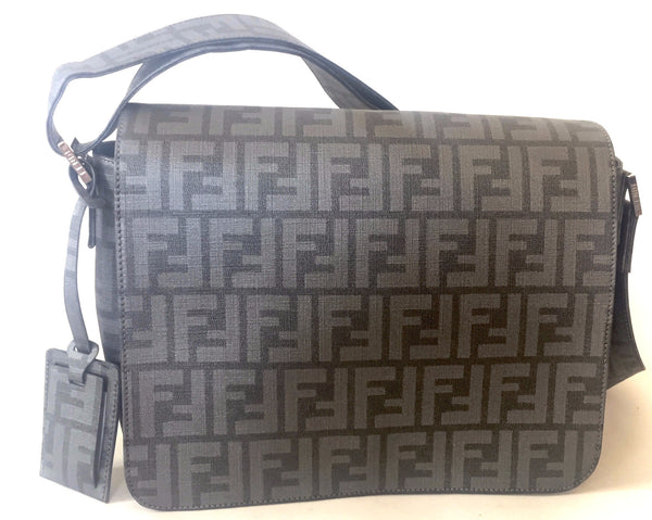 Fendi Grey Canvas Zucca Pattina Satchel | Like New | - Secret Stash