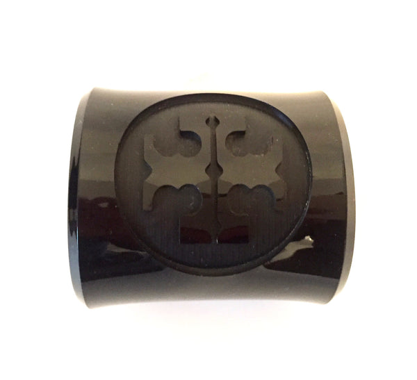 Tory Burch Black 'Lucite' Cuff | Like New | - Secret Stash