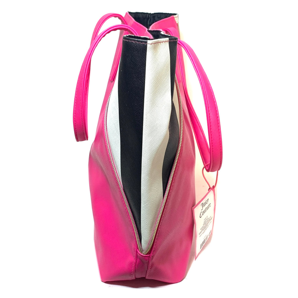 Juicy Couture Hot Pink & Zebra Print Large Tote Bag | Brand New |