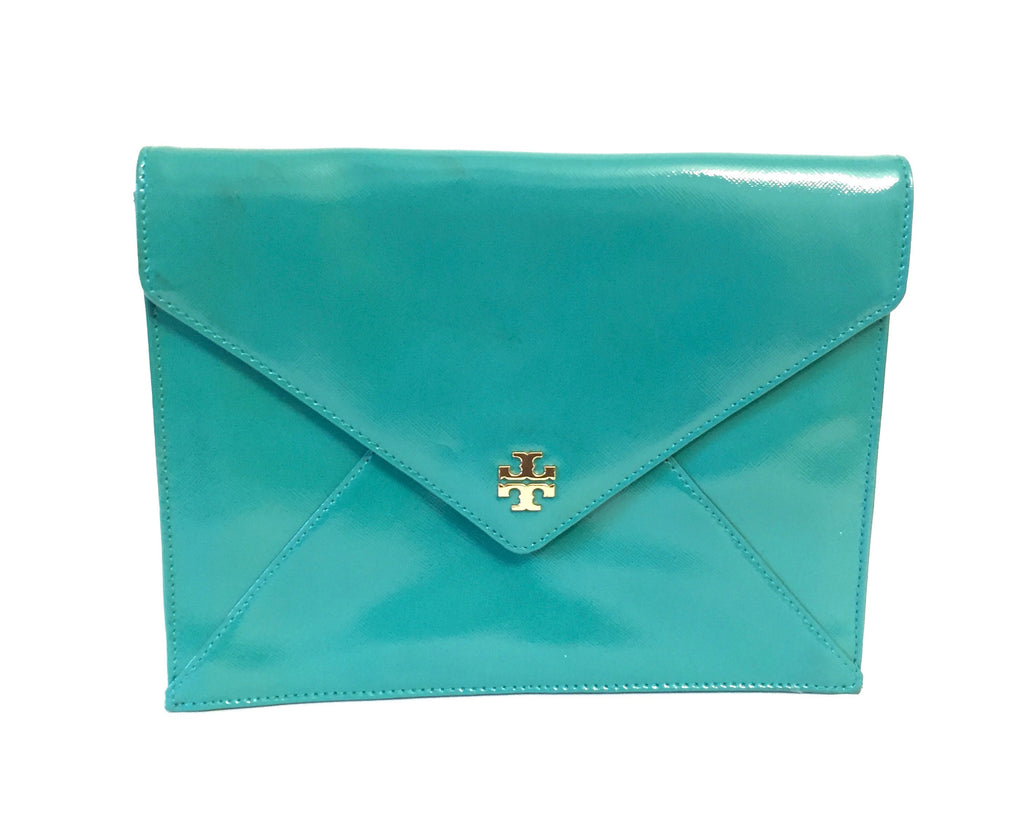 Tory Burch 'Robinson' Patent Leather Envelope Clutch | Gently Used | - Secret Stash