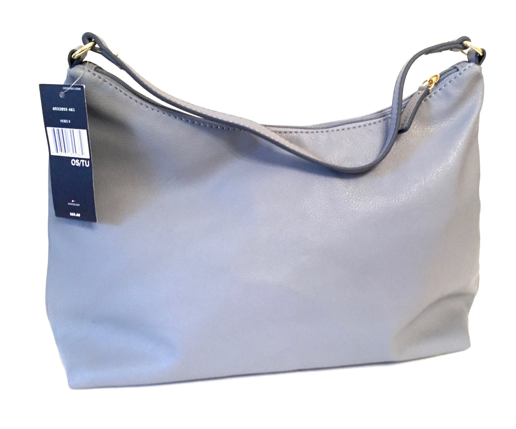 Tommy Hilfiger Blue/ Grey Leather Hobo Bag | Brand New | - Secret Stash