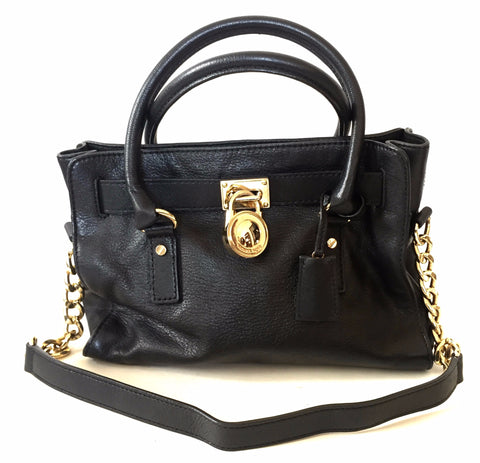 Michael Kors Black Leather 'Hamilton' Tote Bag | Gently Used |